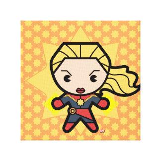 Kawaii Captain Marvel Photon Engery Canvas Print