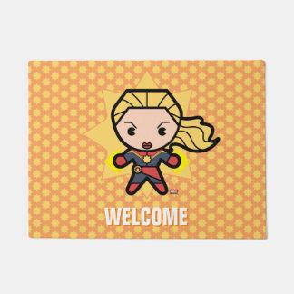 Kawaii Captain Marvel Photon Engery Doormat
