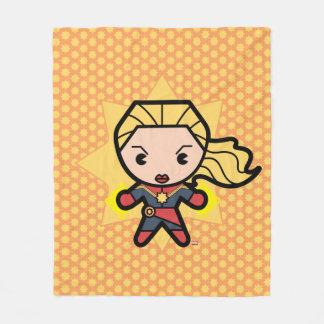 Kawaii Captain Marvel Photon Engery Fleece Blanket