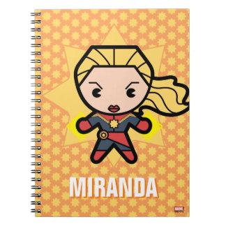 Kawaii Captain Marvel Photon Engery Notebooks