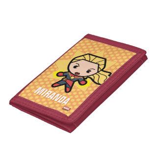 Kawaii Captain Marvel Photon Engery Tri-fold Wallets
