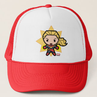 Kawaii Captain Marvel Photon Engery Trucker Hat