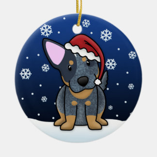 Kawaii Cartoon Blue Heeler Christmas Ornament