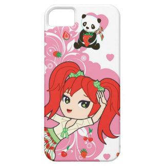 Kawaii Cartoon Coco the School Chibi Girl iPhone 5 Cases