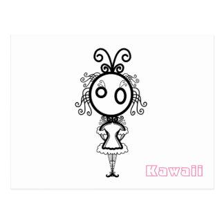 Kawaii Cartoon Girl Postcard