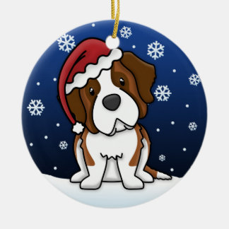 Kawaii Cartoon Saint Bernard Christmas Ornament