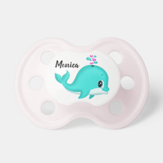 Kawaii Cartoon Teal Whale Pink Hearts Dummy