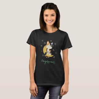 kawaii cat on moon shirt