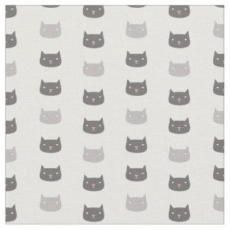 Kawaii Cats Patterned Fabric