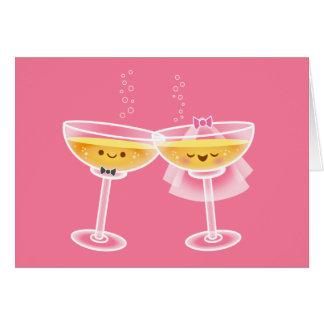 Kawaii Champagne Card