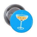 Kawaii Champagne Groom Pinback Buttons