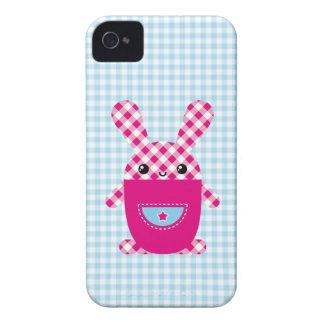 Kawaii checkered rabbit iPhone 4 case