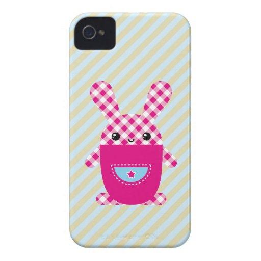 Kawaii checkered rabbit blackberry bold covers