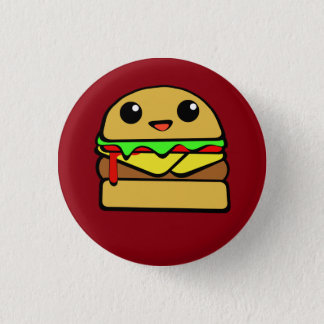 Kawaii Cheese Burger 3 Cm Round Badge