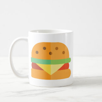 Kawaii Cheeseburger Coffee Mug Funny Food Mug