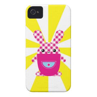 Kawaii chequered rabbit Case-Mate blackberry case