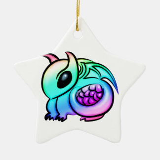 Kawaii Chibi Rainbow Dragon Ceramic Ornament