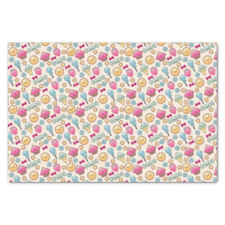 """Kawaii child pattern with cute doodles 10"""" x 15"""" tissue paper"""