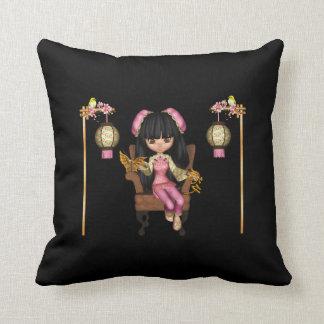 Kawaii China Doll Scene Cushion