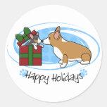 Kawaii Christmas Corgi Puppy Gift