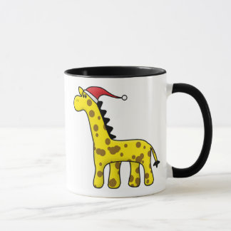 Kawaii Christmas Giraffe Mug