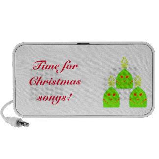 Kawaii Christmas Trees Doodle Mp3 Speakers