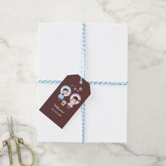 Kawaii Clara - Winter (brown) Gift Tags