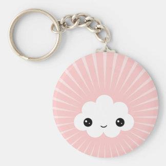 Kawaii Cloud Basic Round Button Key Ring