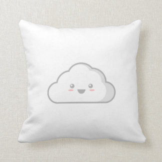 Kawaii Cloud Throw Pillow