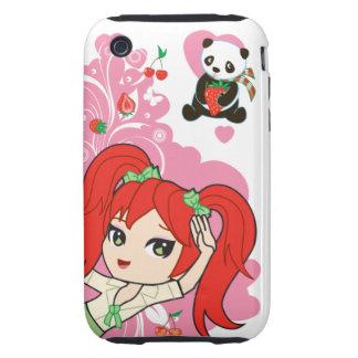 Kawaii Coco the School Girl Chibi Tough iPhone 3 Covers