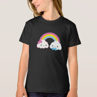 Kawaii Couple Clouds with Rainbow T-Shirt