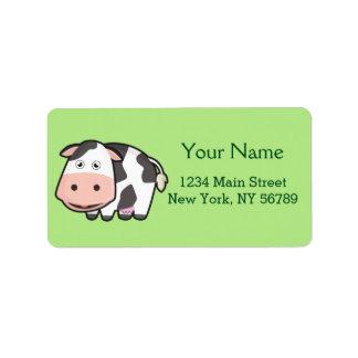 Kawaii Cow Address Label