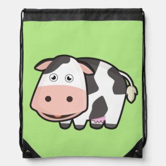 Kawaii Cow Drawstring Bag