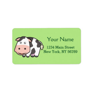 Kawaii Cow Label
