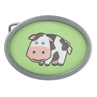 Kawaii Cow Oval Belt Buckle