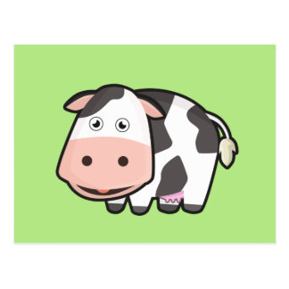 Kawaii Cow Postcard