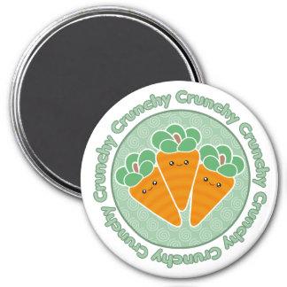 Kawaii Crunchy Carrots Magnet