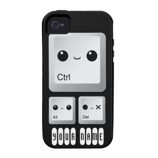 Kawaii Ctrl Alt Del Keyboard - Personalized iPhone 4/4S Cases