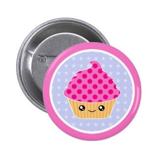 Kawaii Cupcake 6 Cm Round Badge