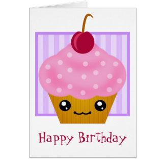 Kawaii Cupcake Birthday Card
