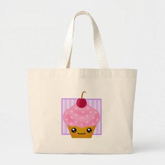 Kawaii Cupcake Cherry Tote Bag