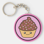 Kawaii Cupcake Chocolate Frosting Key Chains