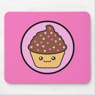 Kawaii Cupcake Chocolate Frosting Mousepad