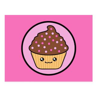 Kawaii Cupcake Chocolate Frosting Postcards