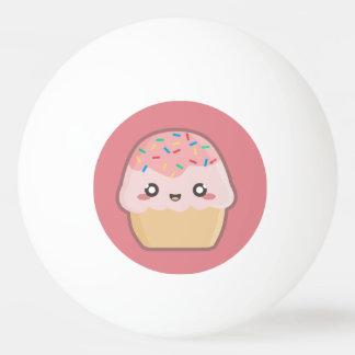 Kawaii cupcake ping pong ball