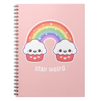 Kawaii Cupcake Rainbow Notebooks