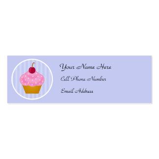 Kawaii Cupcake Skinny Profile Cards Business Card