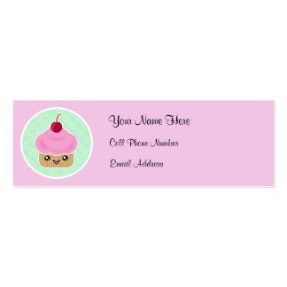 Kawaii Cupcake Skinny Profile Cards Business Cards