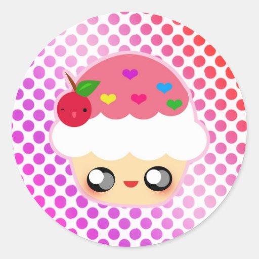 Kawaii Cupcake! Stickers