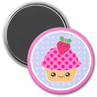 Kawaii Cupcake Strawberry Magnet